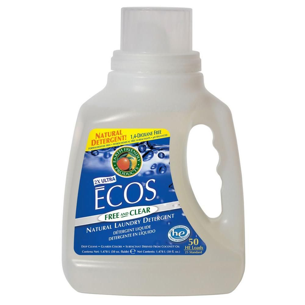 Earth Friendly Products 50 Oz Free And Clear Liquid Laundry