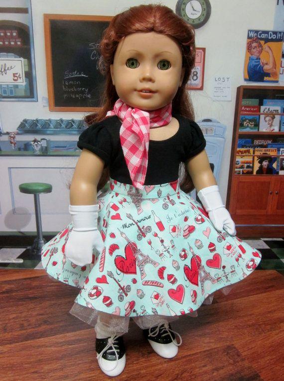 18 inch American Girl Doll Clothes - 1950\'s Doll dress Maryellen ...