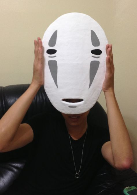 How To Make The No Face Mask Mask Tutorial Face Mask Tutorial No Face Costume