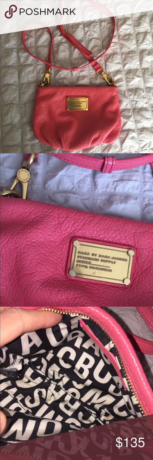 Marc Jacobs Classic Q Percy Pink Crossbody Bag