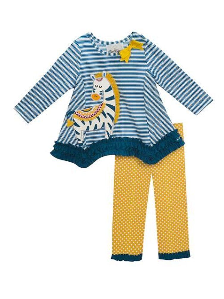cd0d4a54f6db Rare Editions Girls Striped Zebra Tunic and Leggings (2t-6x) (2t ...