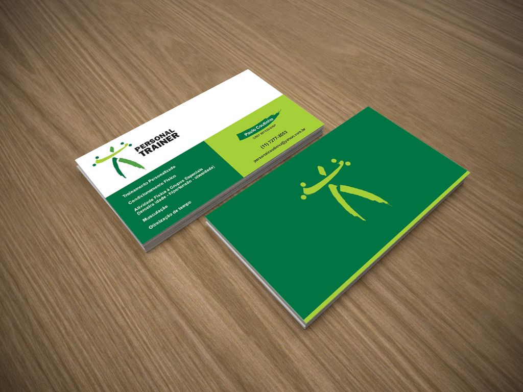 Cartão de visitas para personal trainer / Business card made for ...