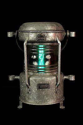 Ancien Fanal Lanterne De Bateau Electrifie Decoration Lampe Marine Loft Bar Lampe Lampe Suspension Lanterne