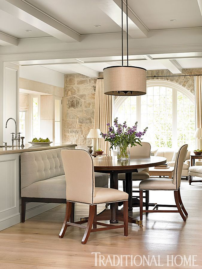 Stone House With Lovely Light Palette Home Decor Dining Room