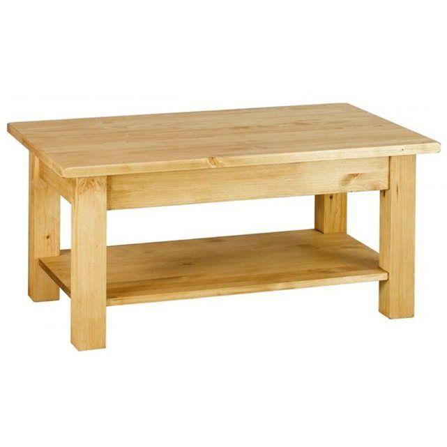 Table Basse Rustique En Pin Massif 100 Cm Farmer Tables