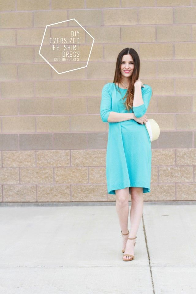Oversized tee shirt dress, aka the go-to summer dress - C&C