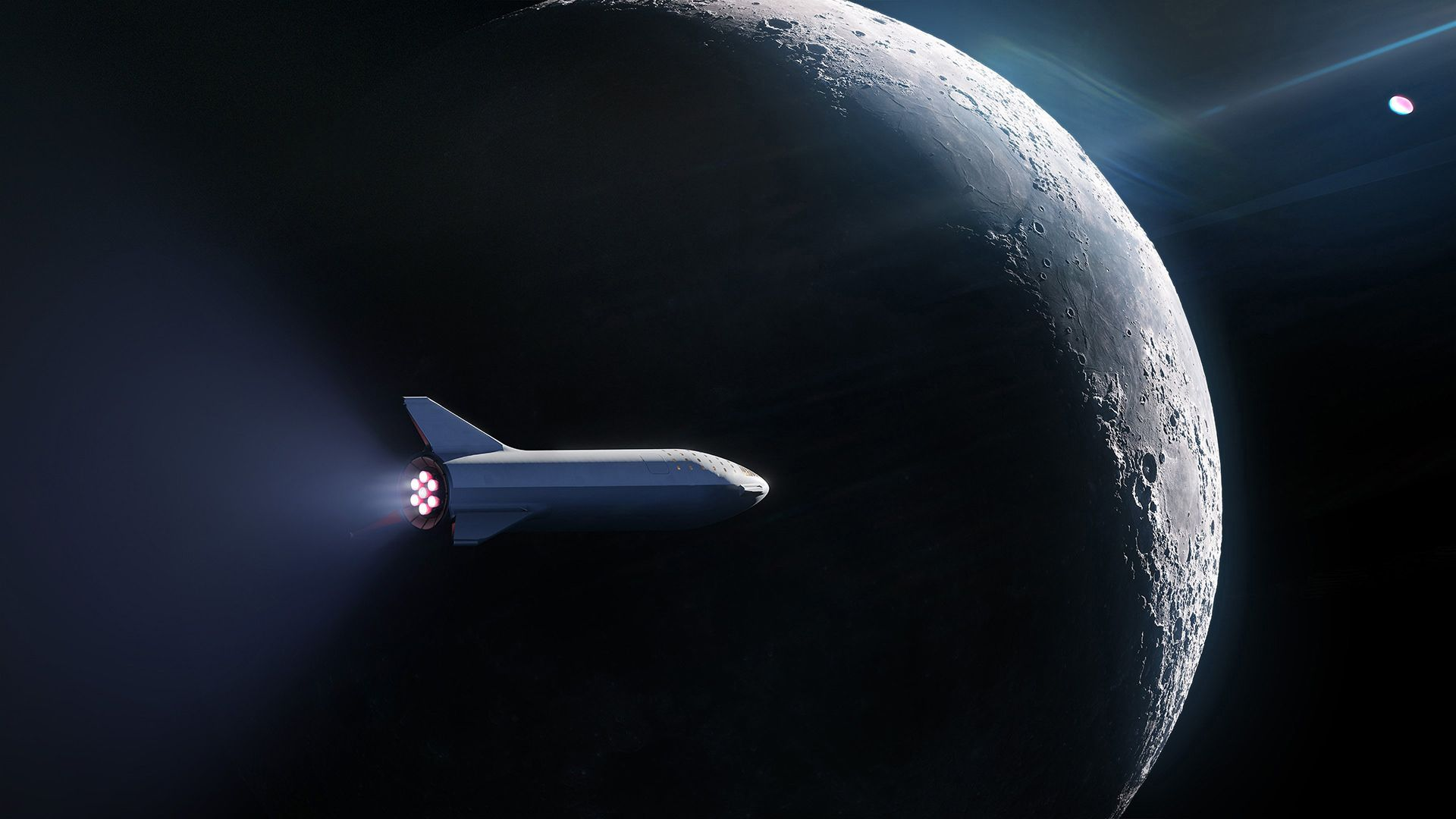 I Made A 1920x1080 And A 2560x1440 Wallpaper Out Of The New Bfr Concept Art Need Trendy Iphone7 Iphone7plus Case Check Spacex Moon Missions Spacex Starship