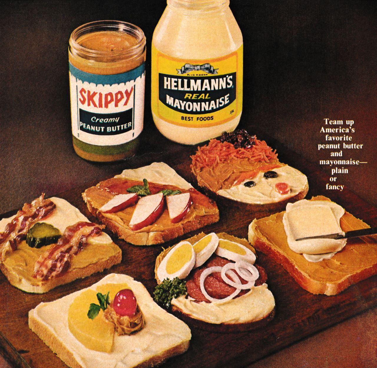 Peanut butter come sandwich gay retro
