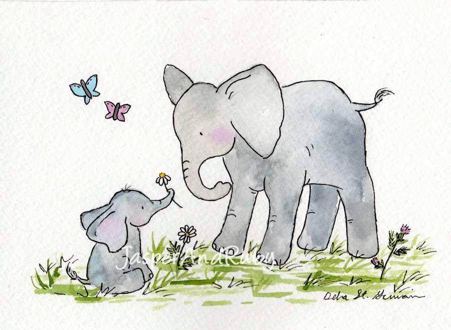 Elephant nursery art children39s wall art nursery decor for Elephant wall art
