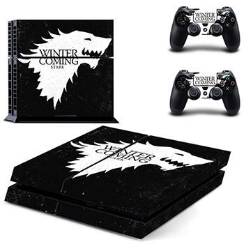 Homereally ps4 skin game thrones winter is coming stark sticker wrap for sony playstation 4 console