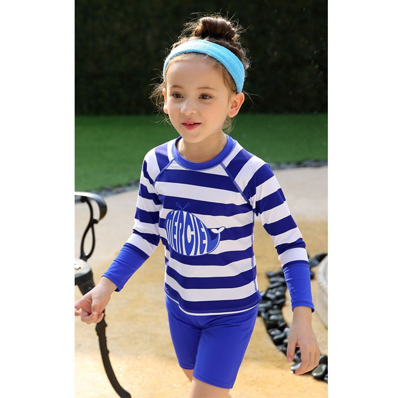 c1af264555 vivo-biniya Kids Long Sleeve Rash Guard Set of 3 UV Sun Protection UPF50+  Beach Shirt Boys Girls Swimming Suit Lycra Swimwear