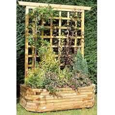 jardiniere bois murale 130 treillis jardin jardini re murale bois mural et jardini re en bois. Black Bedroom Furniture Sets. Home Design Ideas
