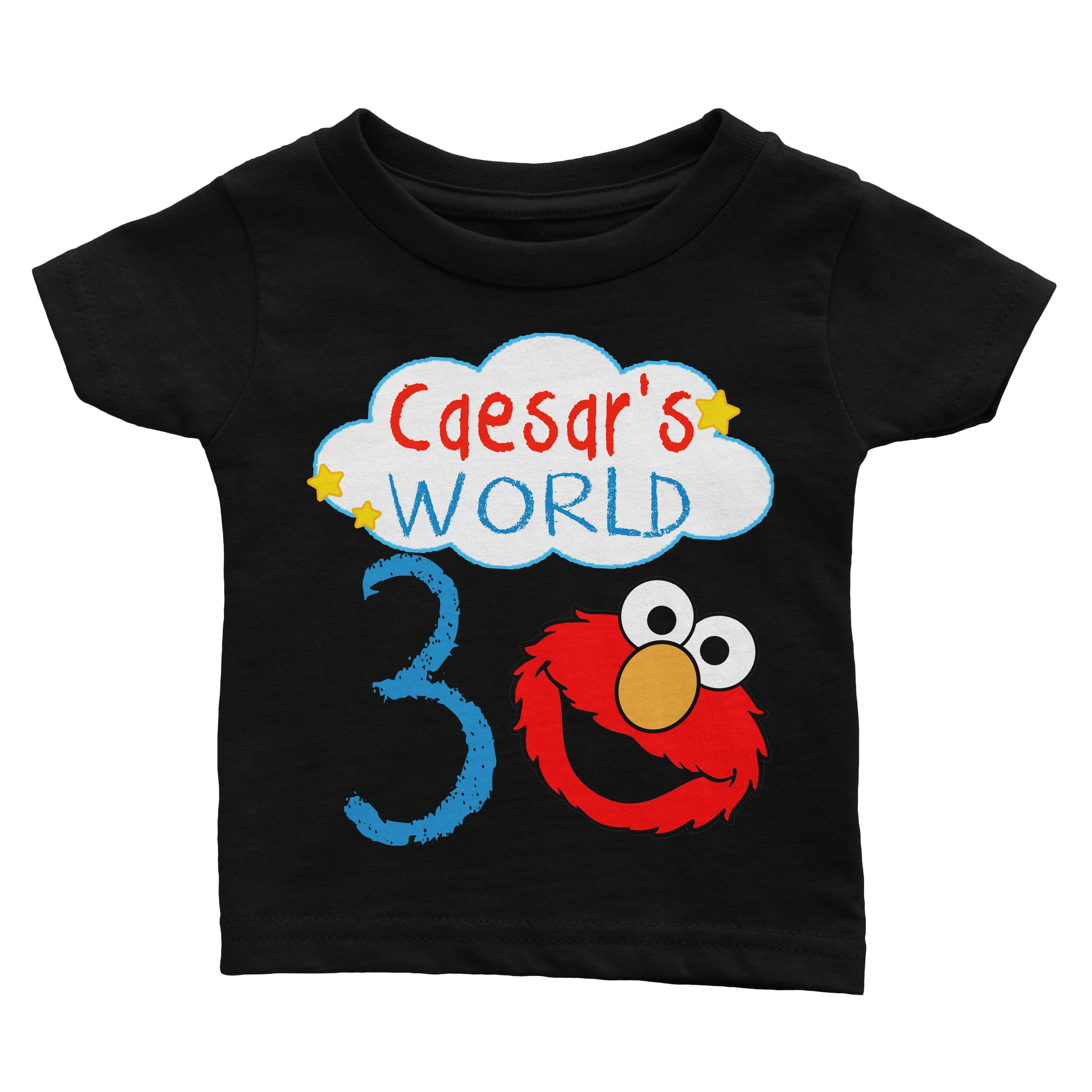 Personalize Elmo Birthday Shirt