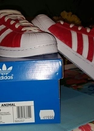 Adidas Superstar rot animal | lll MUST HAVES lll | Kleidung