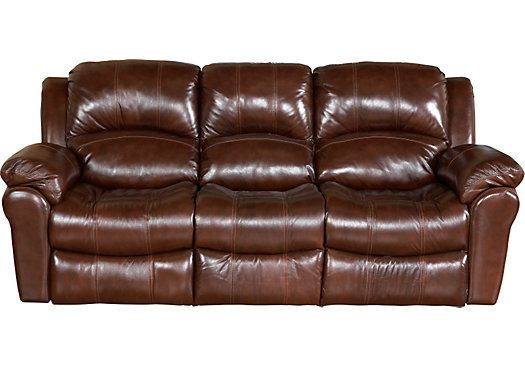 Casaro Brown Leather Reclining Sofa Living Room Remodel
