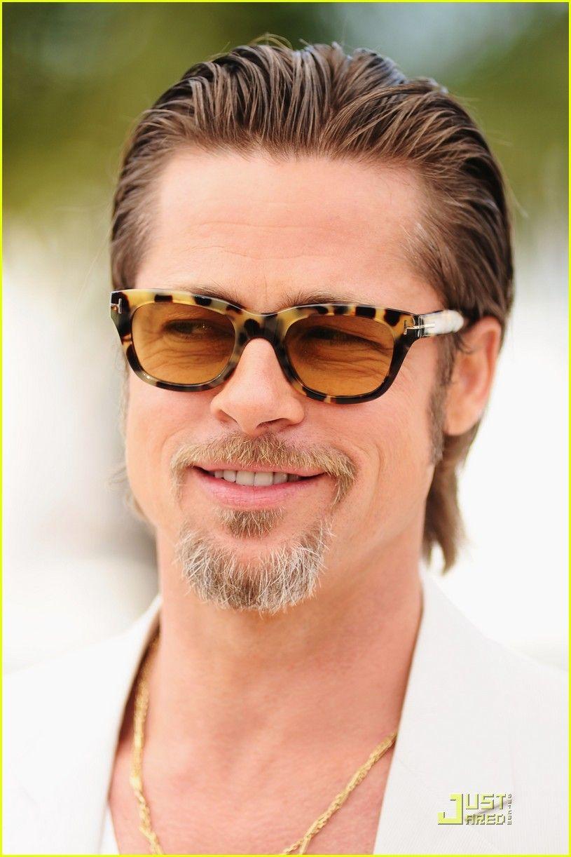 Life Premiere Brad Pitt Slicked Back Hairstyle