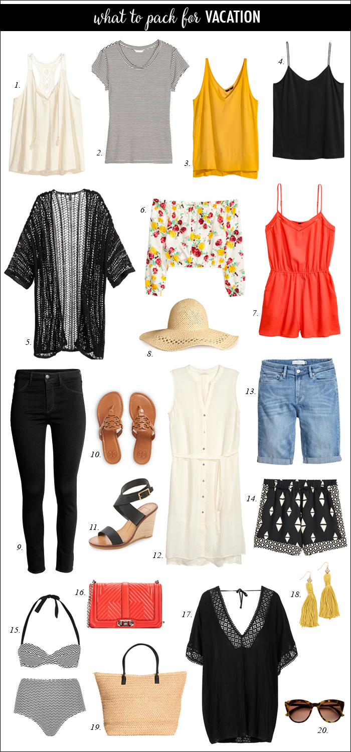 shorts, kimonos and tops for summer vacation | summer outfits women over 40 beach capsule