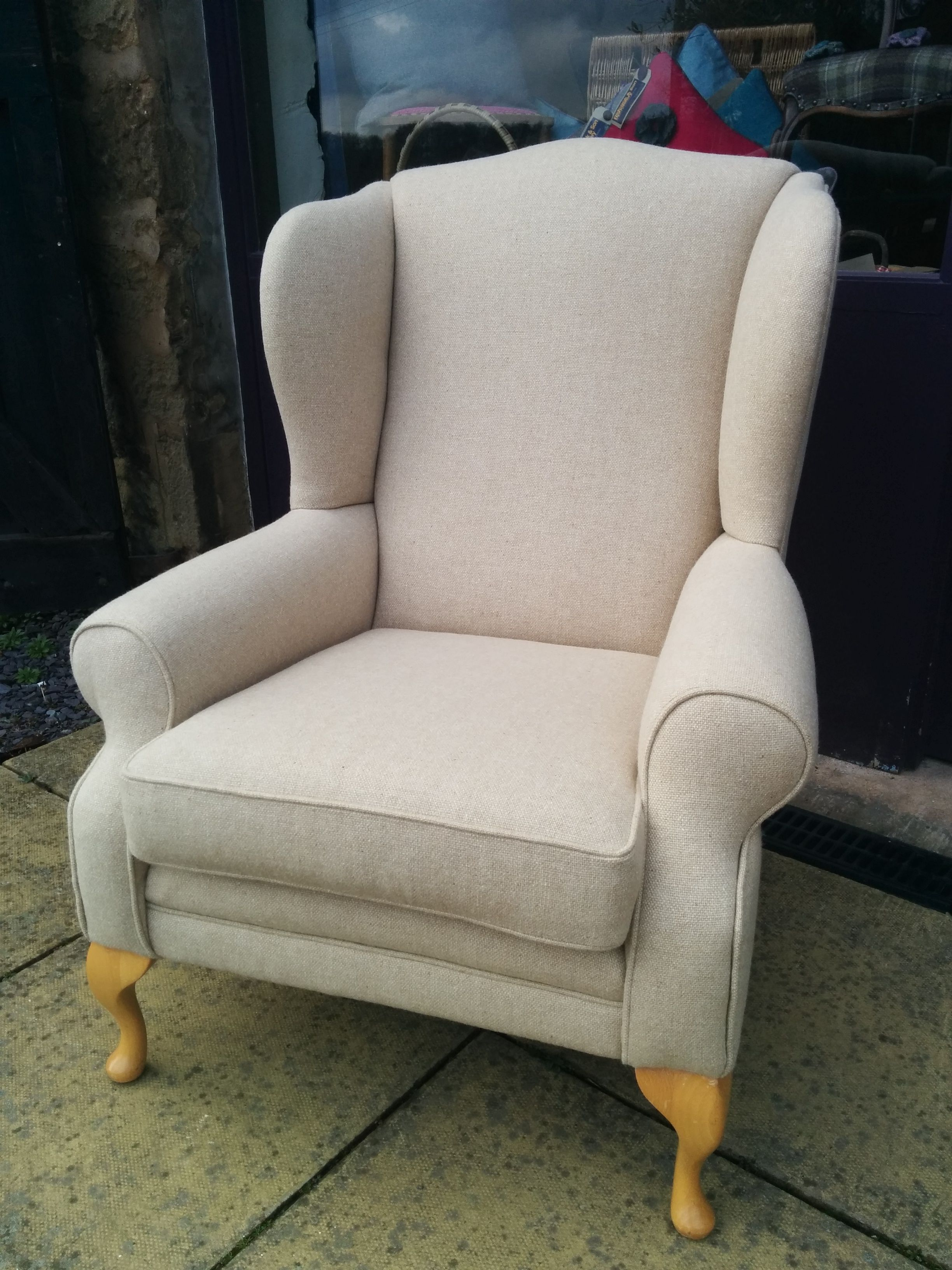A beautiful old Parker Knoll chair reupholstered in Ross fabric