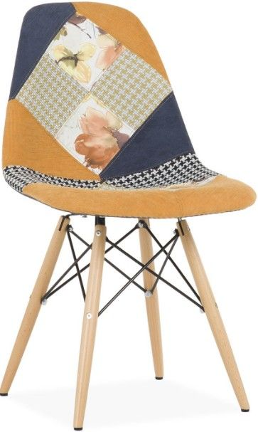 chaise patchwork tissu fleuri inspire dsw charles ray eames - Chaise Patchwork Eames