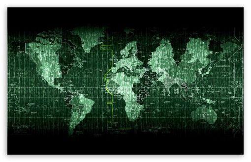 Download Matrix World Map Hd Wallpaper 4k Uhd