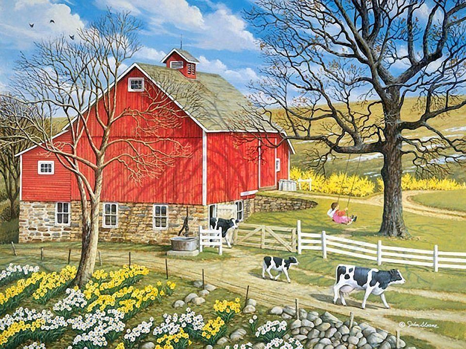 John Sloane FIRST DAY OUT   Country art, Farm art, Art