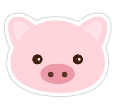 Pig Stickers By Stt2design Redbubble Cerditos Imagenes De Puerquitos Dibujos Kawaii