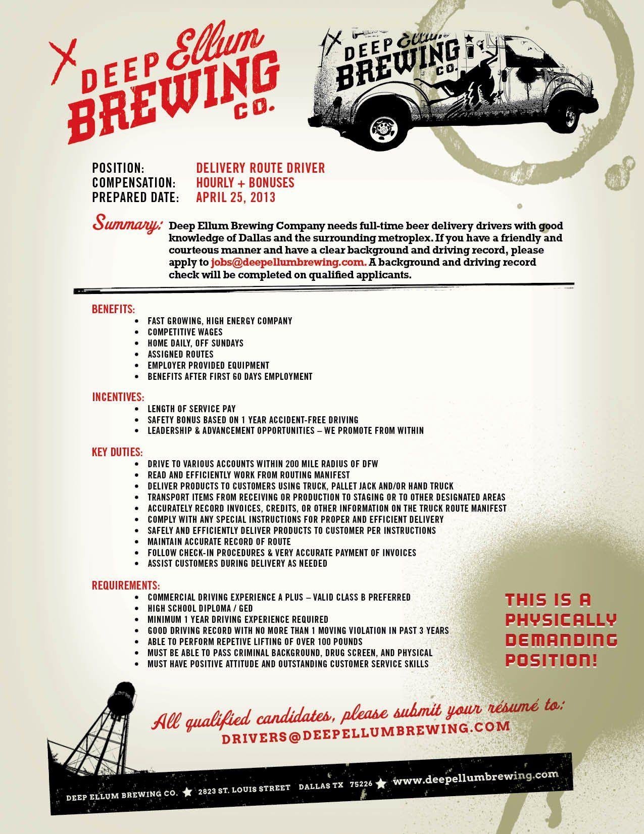 Delivery driver job description resume beautiful