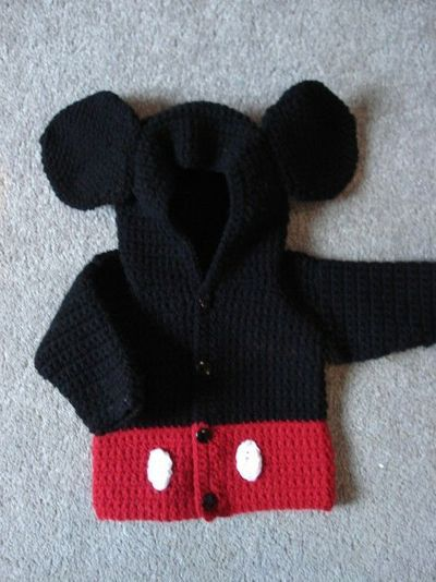 Mickey Mouse Sweater Childrenbaby Clothes Pinterest Croché