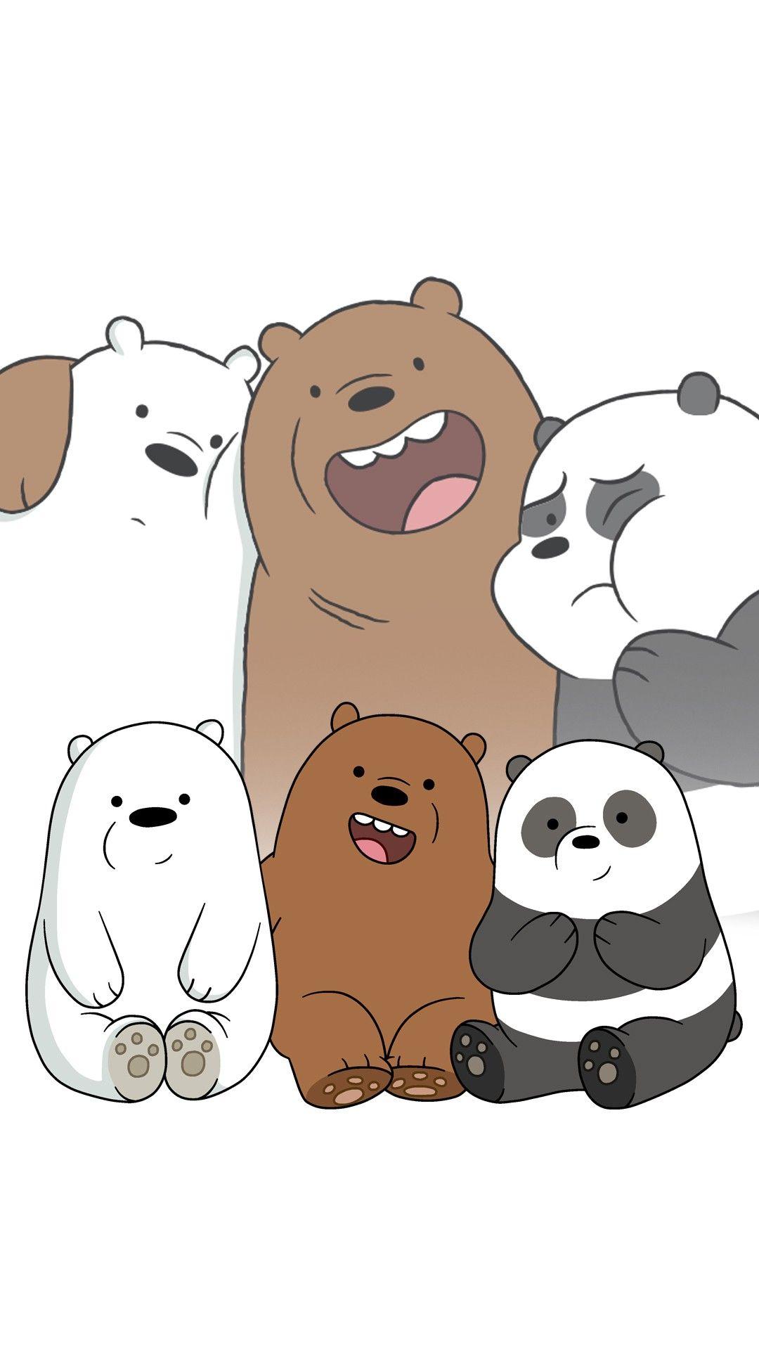 We Bare Bears Wallpaper Seni Lucu Beruang Panda Boneka Hewan
