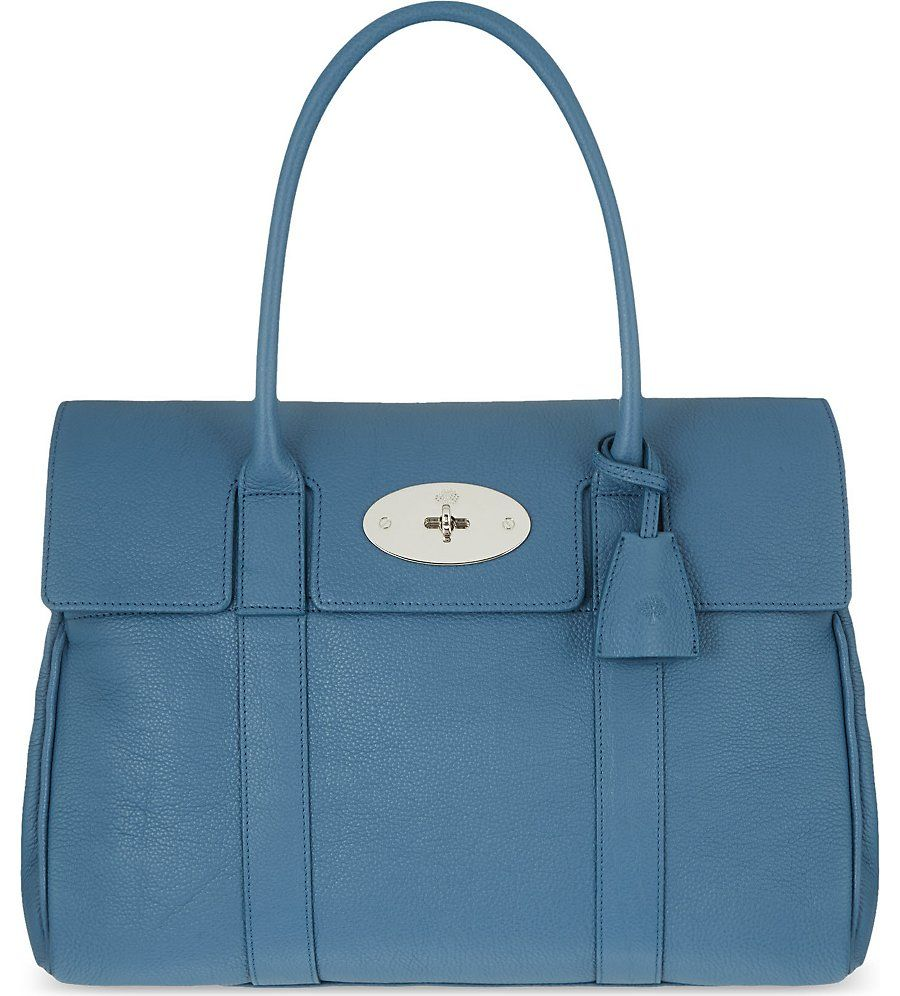 232fa23b78 ... cheapest mulberry bayswater small grained leather bag steel blue 526e1  ab8a2