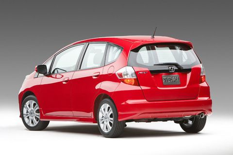 Honda Fit Bright Red I Love This Sporty Little Car Good On Gas And With A Mobile Makeup Business Working Movie Sets All Over