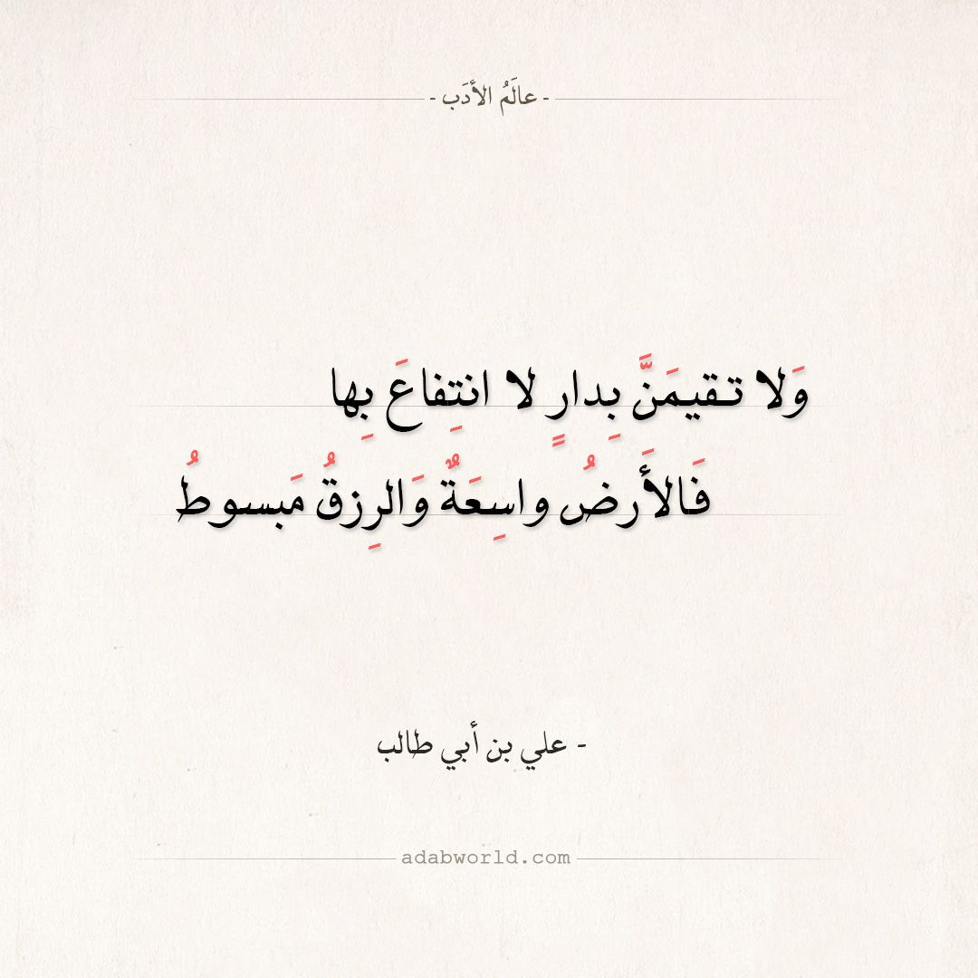 شعر علي بن أبي طالب اصبر على الدهر لا تغضب على أحد عالم الأدب Wisdom Quotes Words Quotes Poetic Words