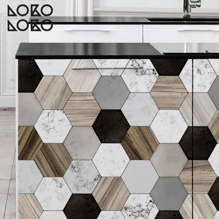 Azulejos hexagonales cer mica y madera searching - Azulejos hexagonales ...