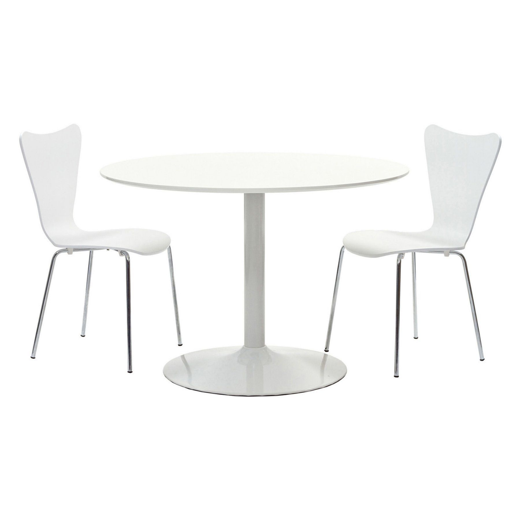 Modway revolve piece dining set with earnie chairs white eei