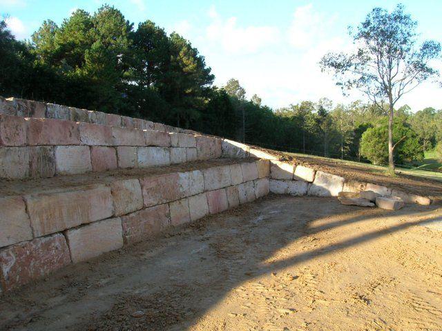 B Grade Premium Sandstone Retaining Wall Retaining Wall