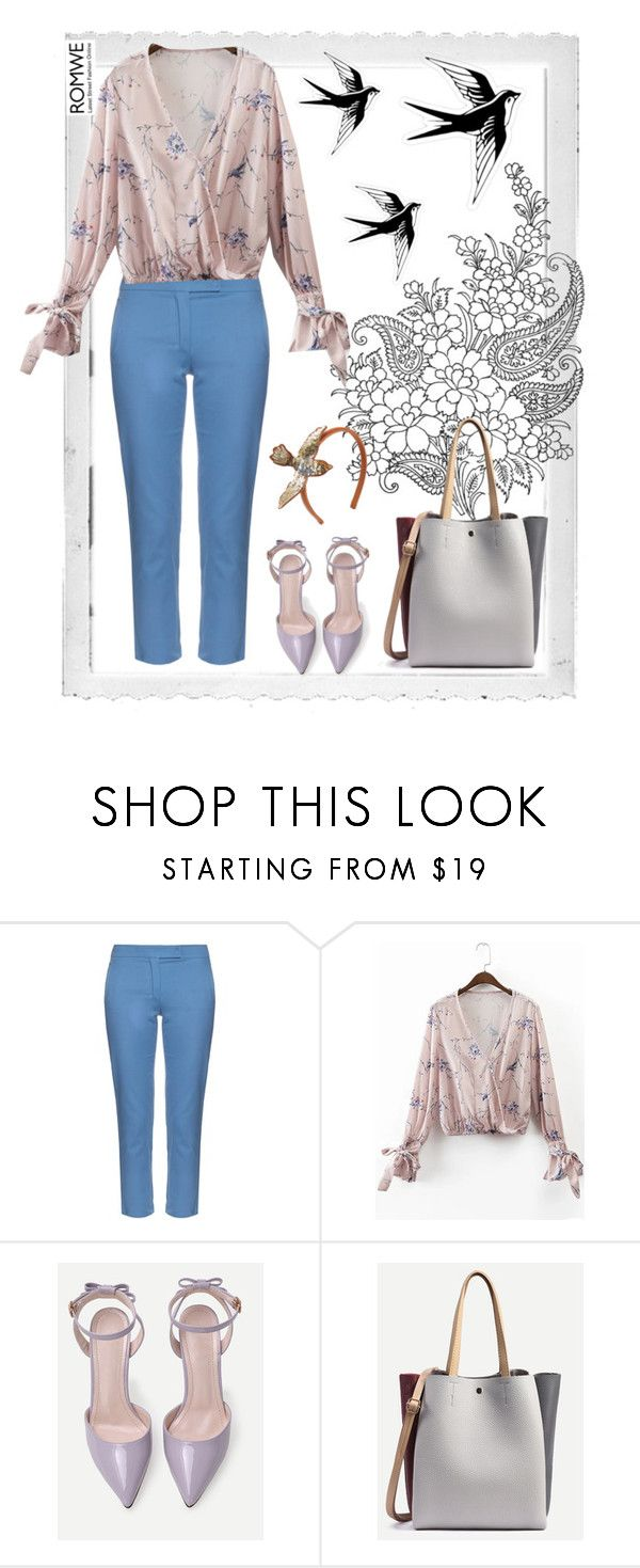 """""""Romwe."""" by natalyapril1976 ❤ liked on Polyvore featuring Polaroid, 'S MaxMara and RED Valentino"""