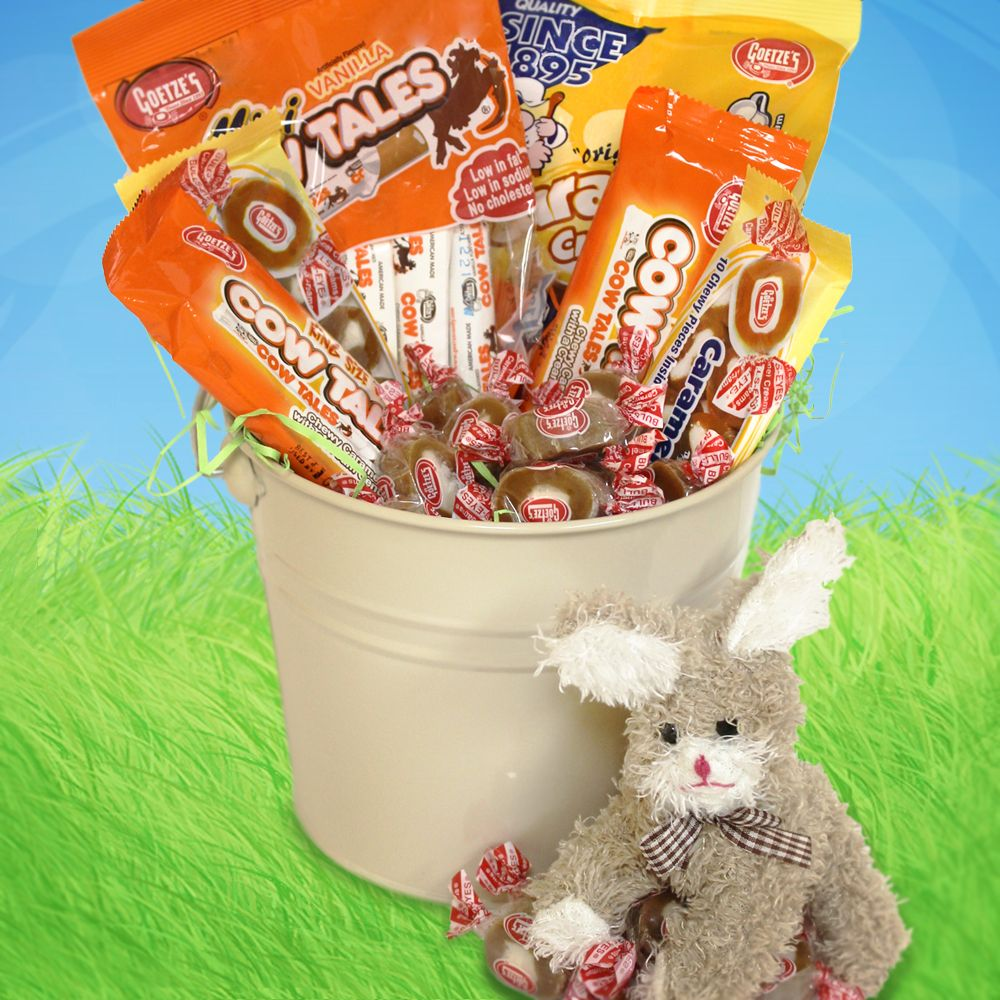 Goetzes caramel creams cow tales easter basket filled with nut goetzes caramel creams cow tales easter basket filled with nut free easter candy negle Choice Image