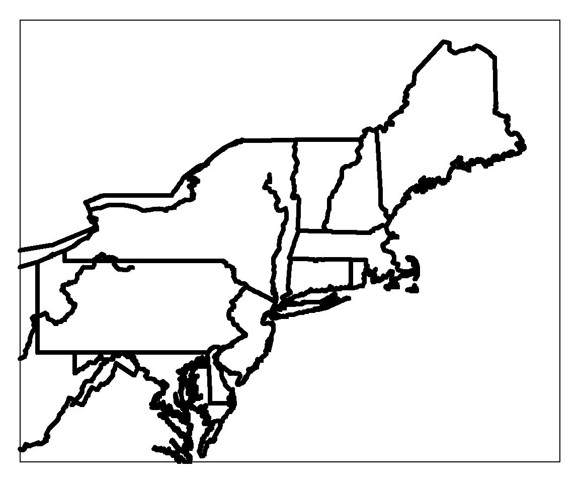 Blank Map Of Northeast Region States