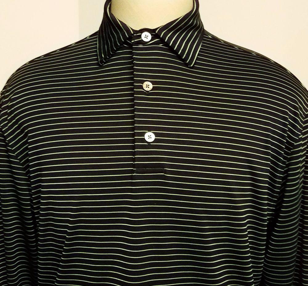 black green striped long sleeve shirt