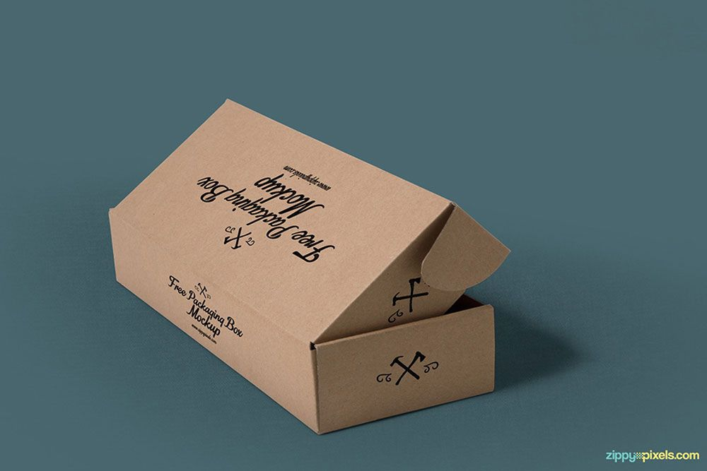 Download Free Rectangular Box Packaging Mockup Box Packaging Mockup 로고 포장 일러스트레이션