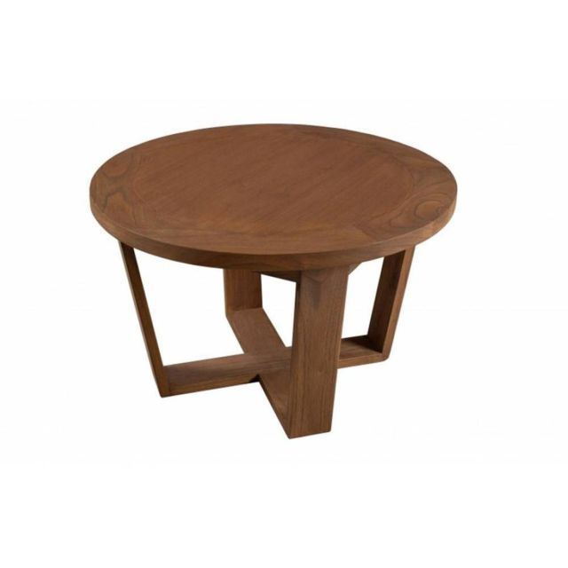 Inside 75 Table Basse Ronde 65cm Fancy En Bois Teinte