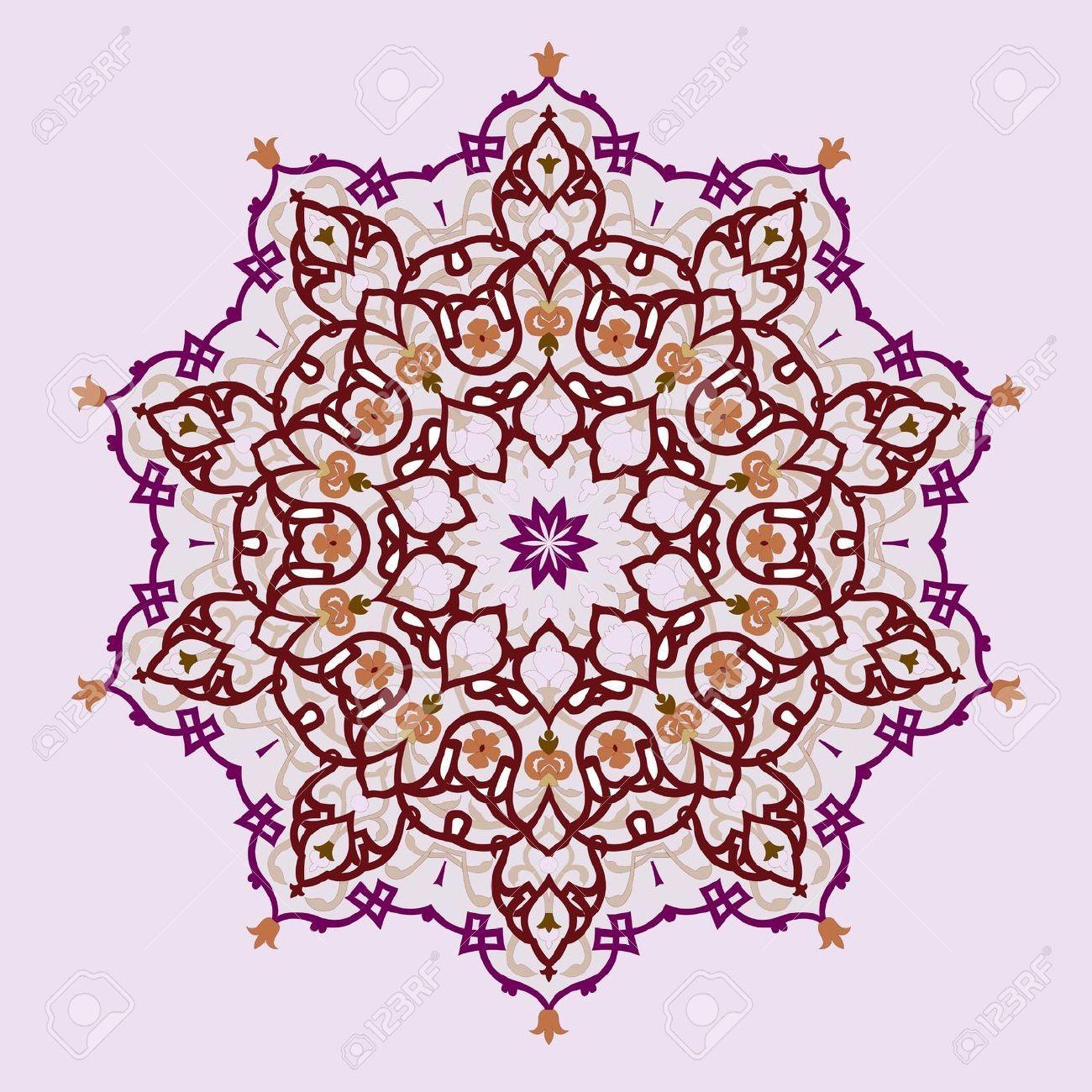 stock vector | persian motifs, pattern, islamic art