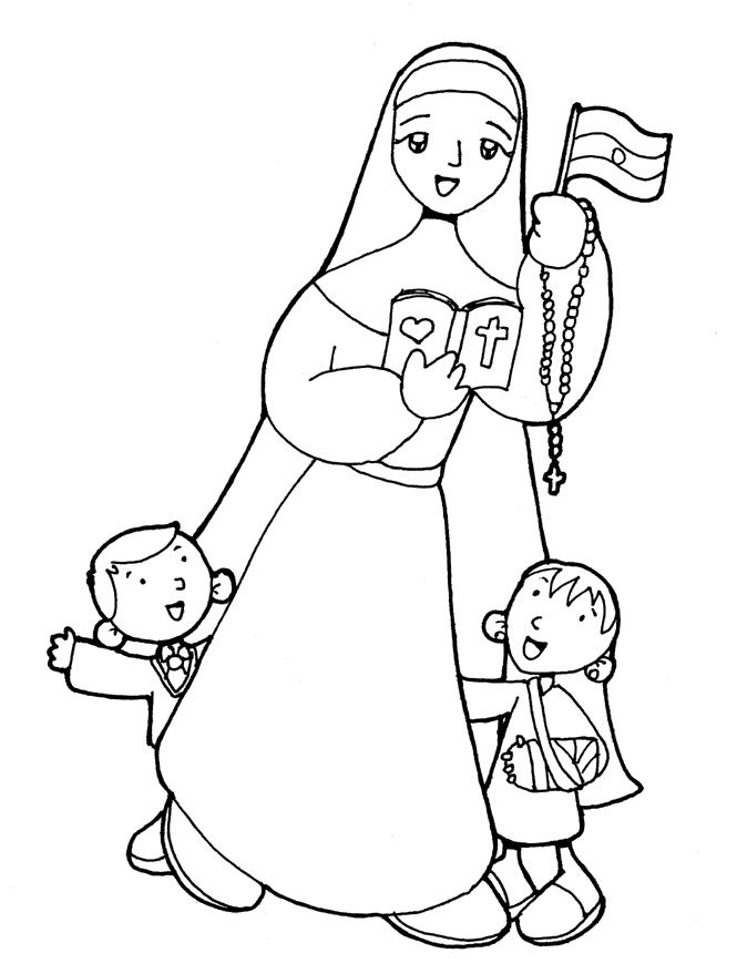 Blessed MARÍA CRESCENCIA PÉREZ Catholic Coloring Page