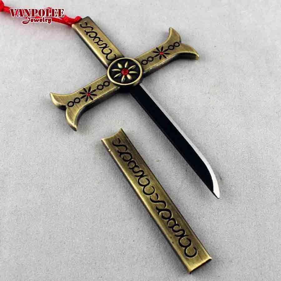 One Piece Evangelion Sheath Knife Bolo Eagle Eye Cross Key Ring