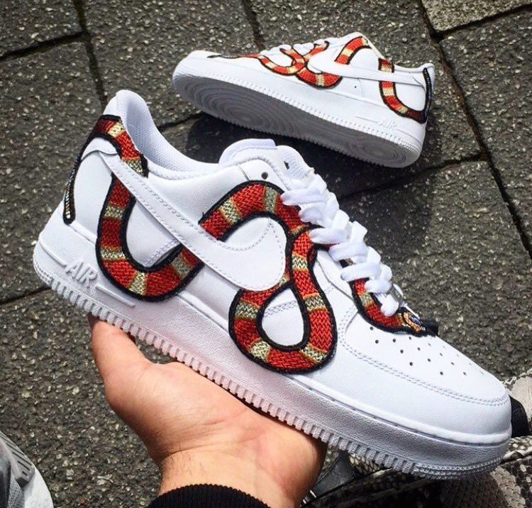 Gucci Custom Air Force 1 Low Sneakers, Custom shoes
