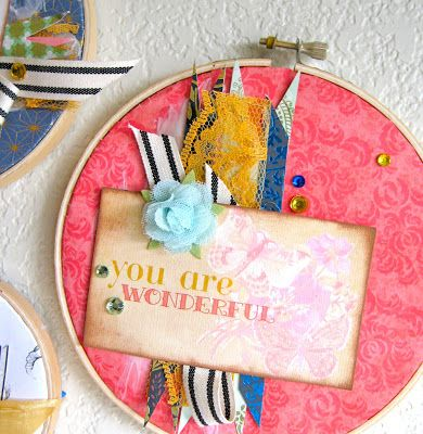 sei lifestyle: Hanging Embroidery Hoop Wall Decor Trio
