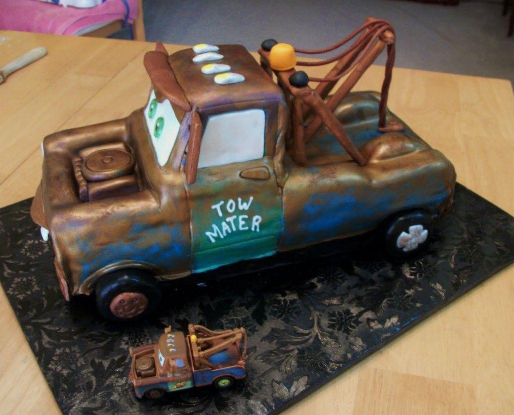 Awe Inspiring Tow Mater Birthday Cakes Cars Cake Design Tow Mater Cake Mater Funny Birthday Cards Online Benoljebrpdamsfinfo