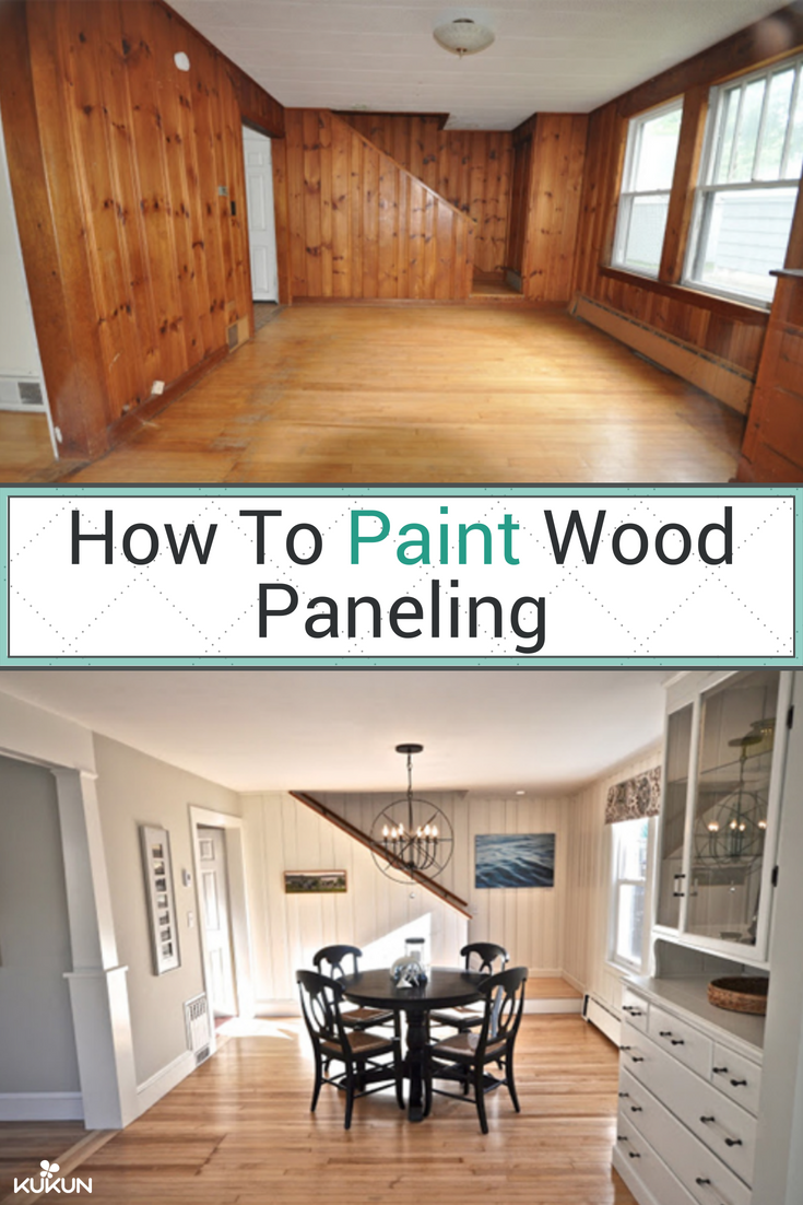 A Step By Step Guide To Painting Wood Paneling Diy Projects Wood