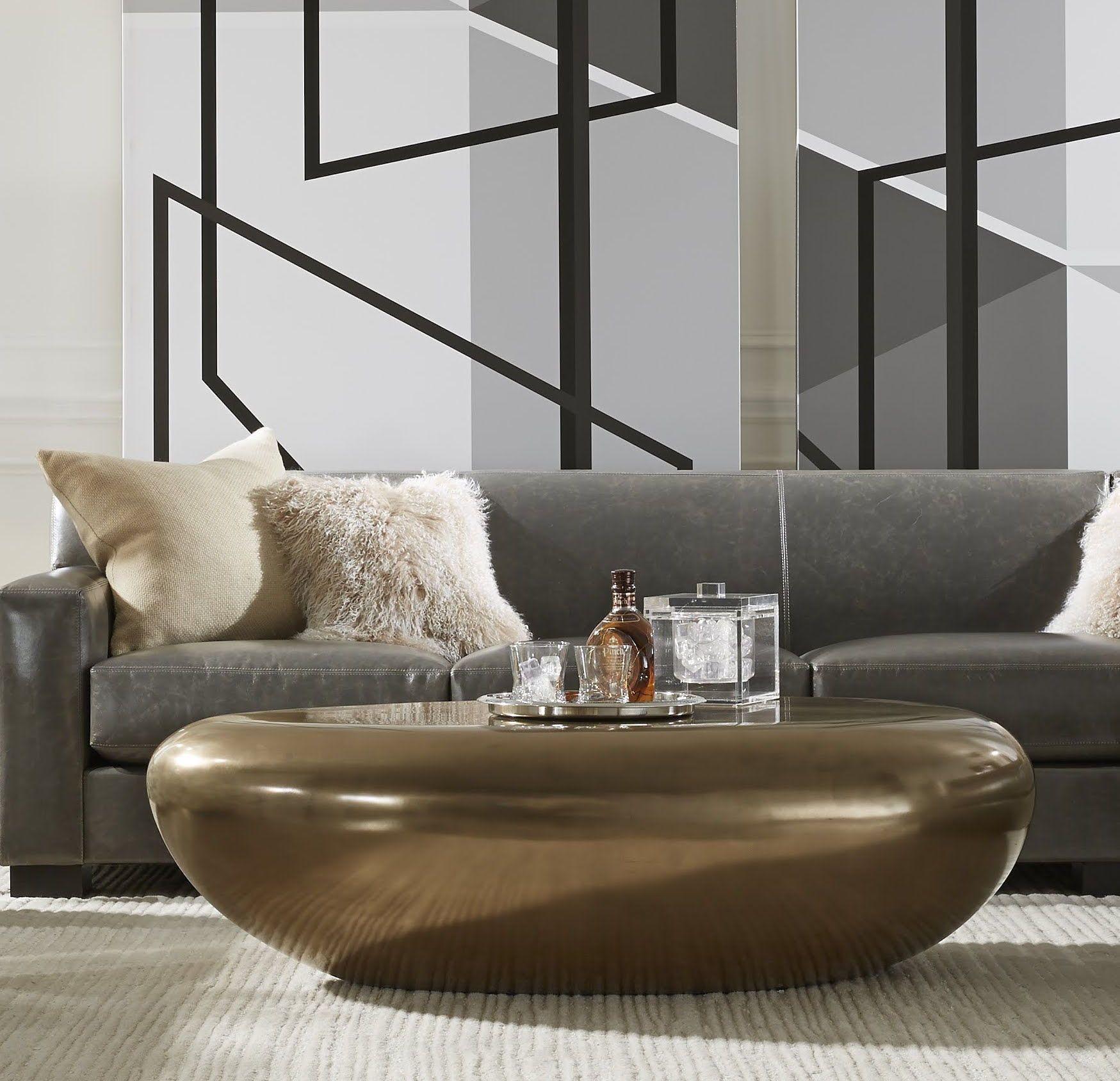 River Stone Cocktail Table Bronze Home Interior Design House Interior Table Furniture