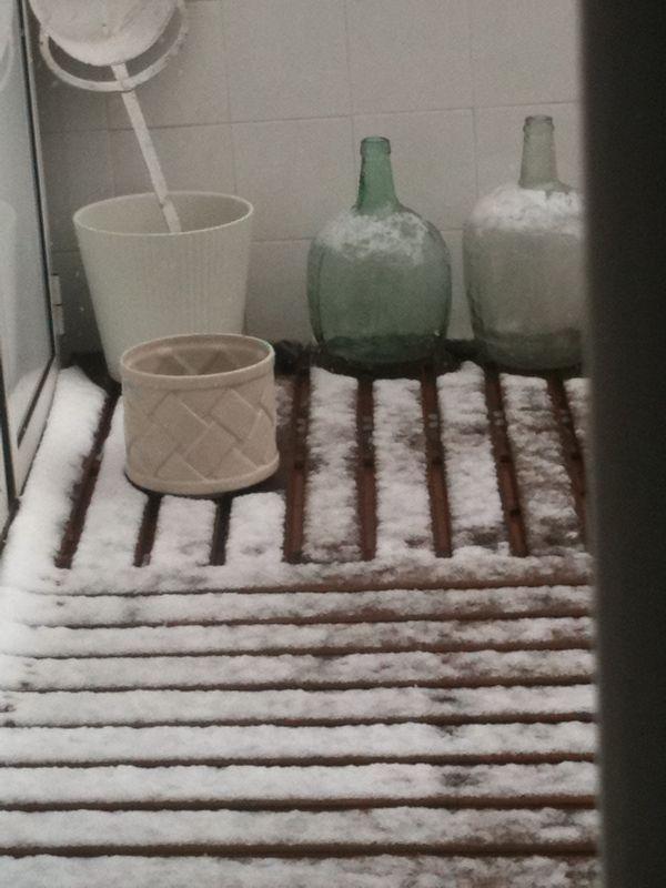 terraza en invierno